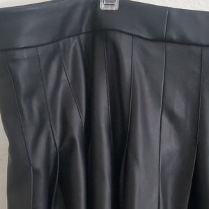 Lane Bryant Skirts - Pleated faux leather skirt